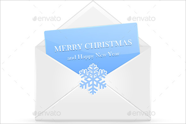 Open Christmas Envelope Template