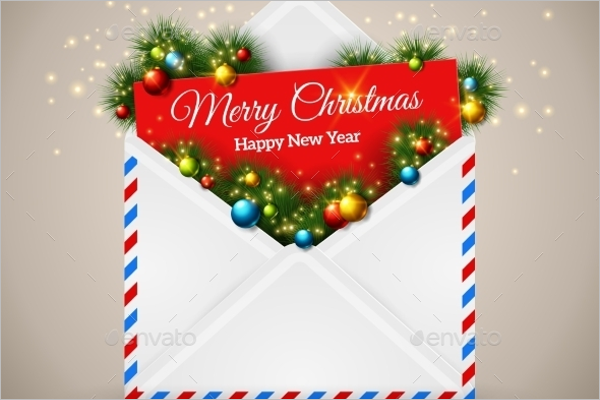Open Envelope Christmas Template