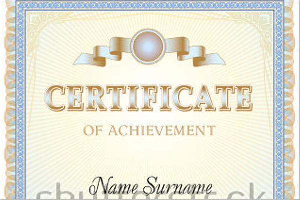 PDF Work Experience Certificate Template