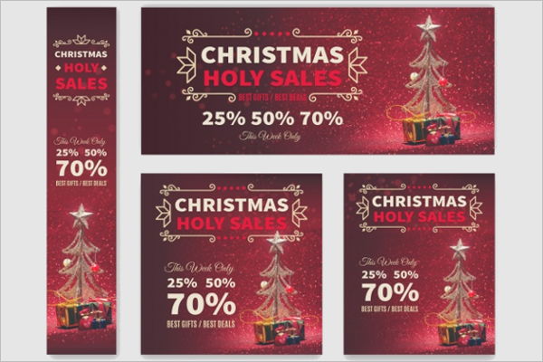 Pack Of Christmas Discount Banners