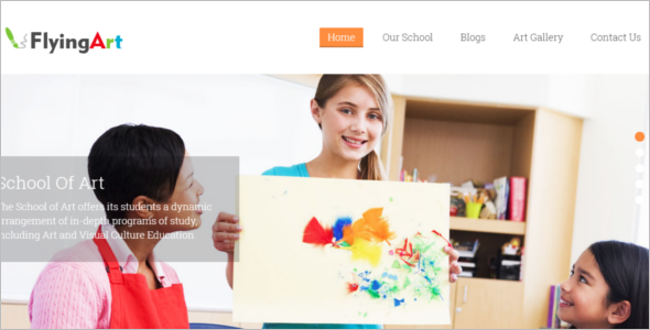 Painting Artist Website Template