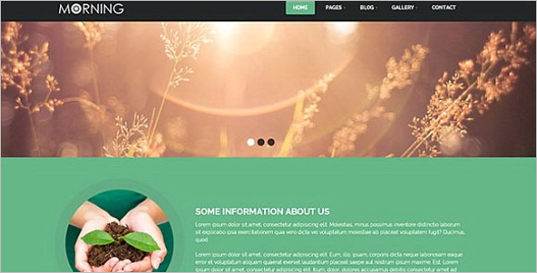 Parallax Agriculture Website Theme