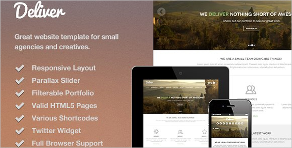 Parallax HTML5 Website Template