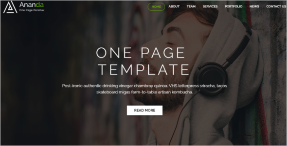 Parallax One Page Website Template