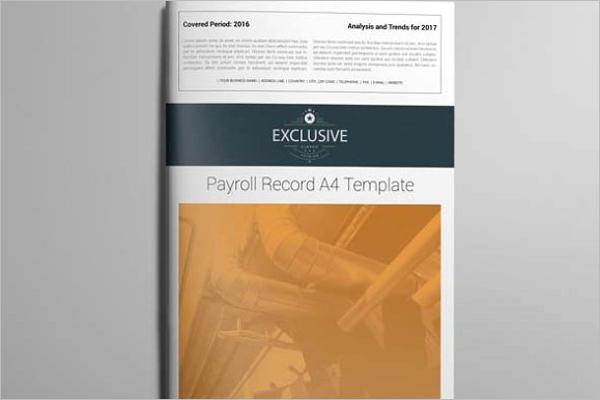 Payroll Record Template PDF