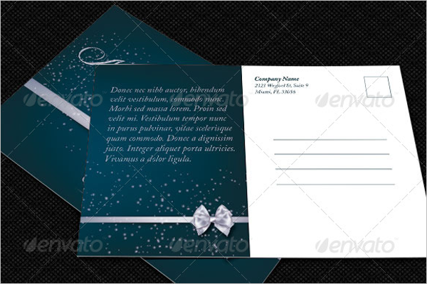 Personalized Christmas Postcard Template
