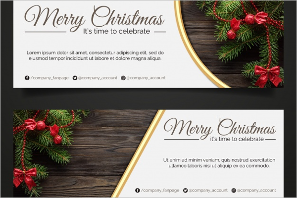 Photo Christmas Banner Template