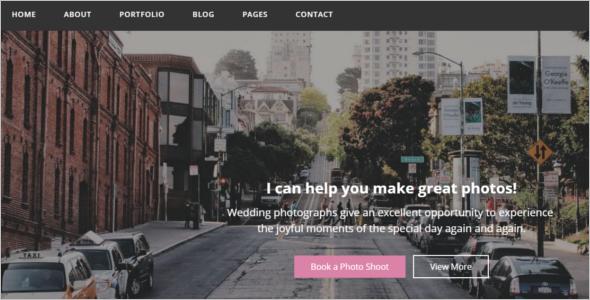 Photo Gallery Portfolio Website Template