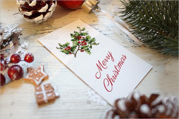 Photorealistic Christmas Card Mockup