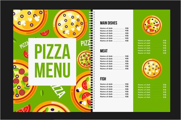 Pizza Cafe Menu Template
