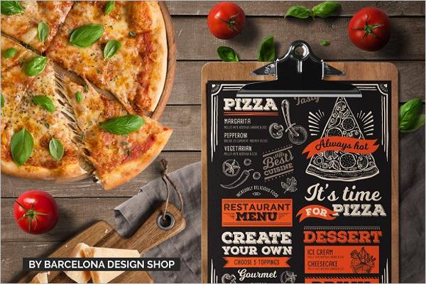 Pizza Food Menu Template