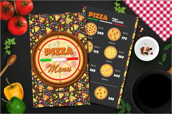 Pizza Menu Brochure Design