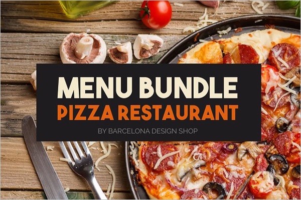 Pizza Menu Bundle Template