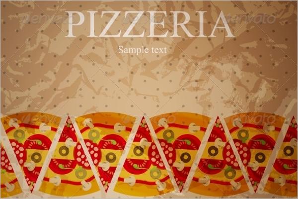 Pizza Menu Illustrator Template