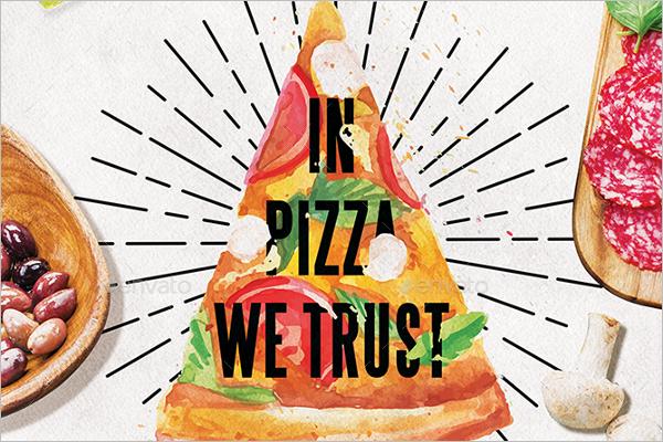 Pizza Menu PSD Template
