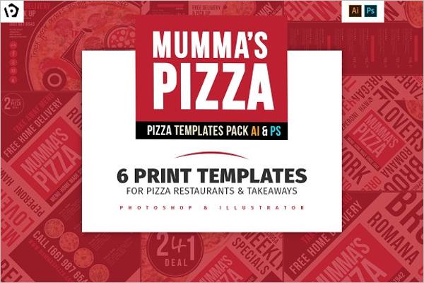Pizza Menu Template Pack