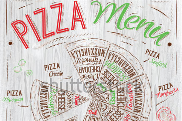 Pizza Menu Template Sample Download