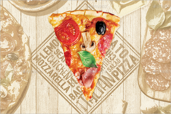 Pizzerina Menu Card Template