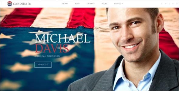 Political PSD Website Template