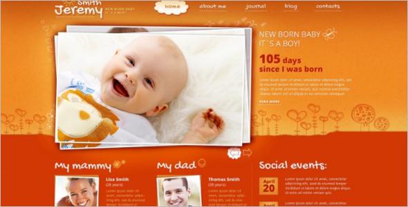 Pre Designed Family Website Theme