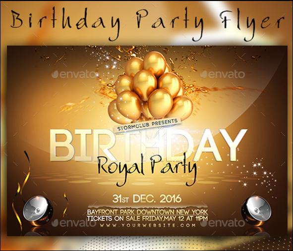 Premium Birthday Party Flyer Design