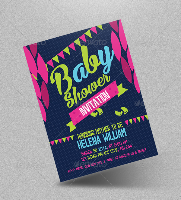 Printable Baby Shower Flyer Template