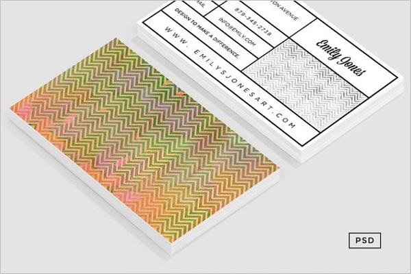 Printable Chevron Business Card Design