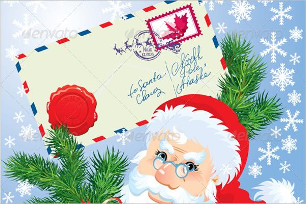 Printable Christmas Envelope Template