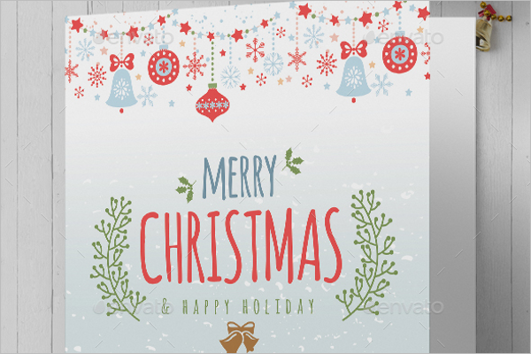 Printable Christmas Greeting Card Template