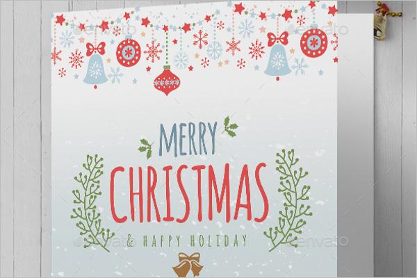 Printable Christmas Greeting Card Template