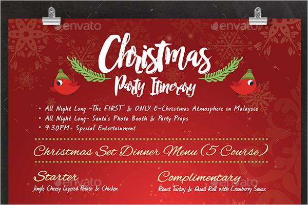 Printable Christmas Menu Design