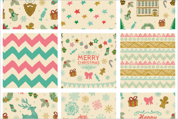 Printable Christmas Photoshop Pattern