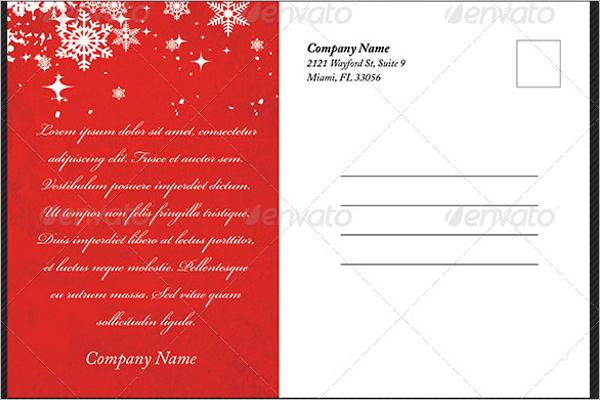 Printable Christmas Postcard Template