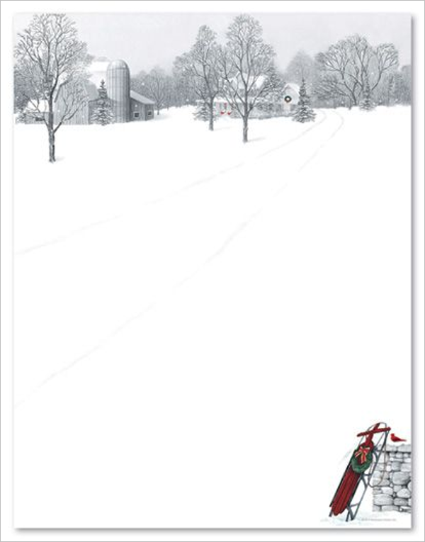 Printable Christmas Stationery Template