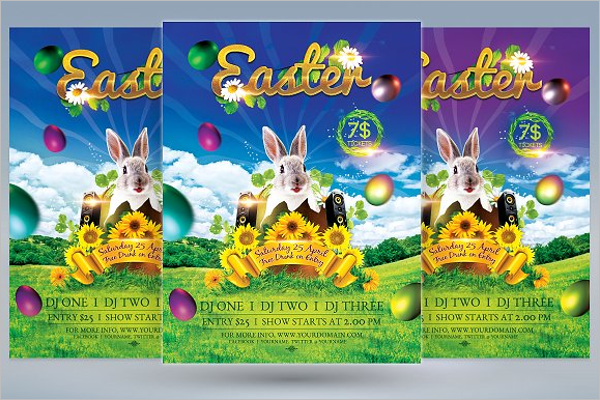 Printable Easter Flyer Template