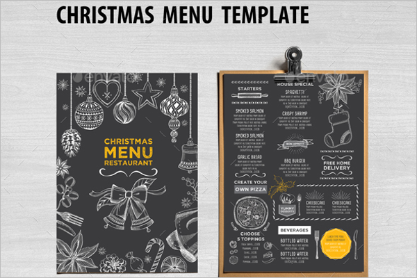 Printable Holiday Menu Template