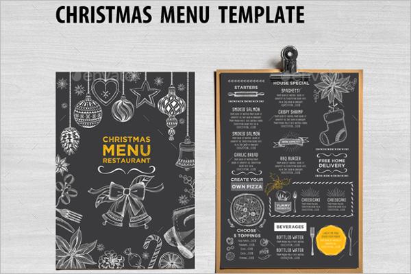 Printable Holiday Menu Template  Free Printable Restaurant Menu Template