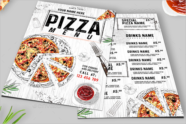 Printable Pizza Menu Template