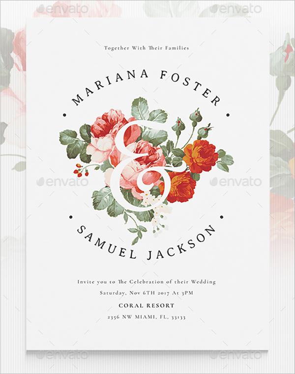 Printable Wedding Menu Template