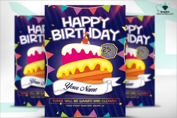 Psd Kids Happy Birthday Flyer