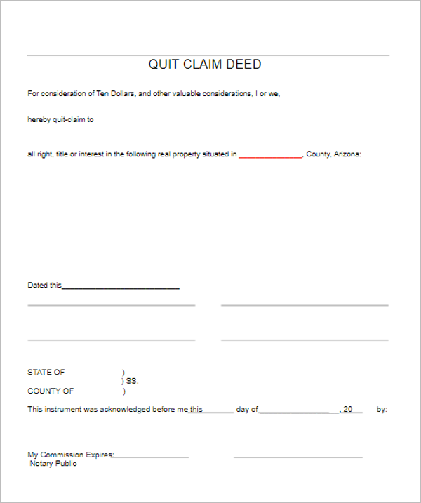 Quit Calm Form Template