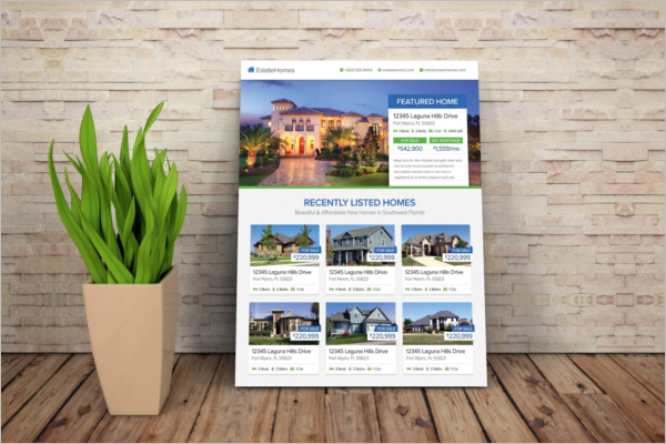 real estate flyer templates psd free design ideas