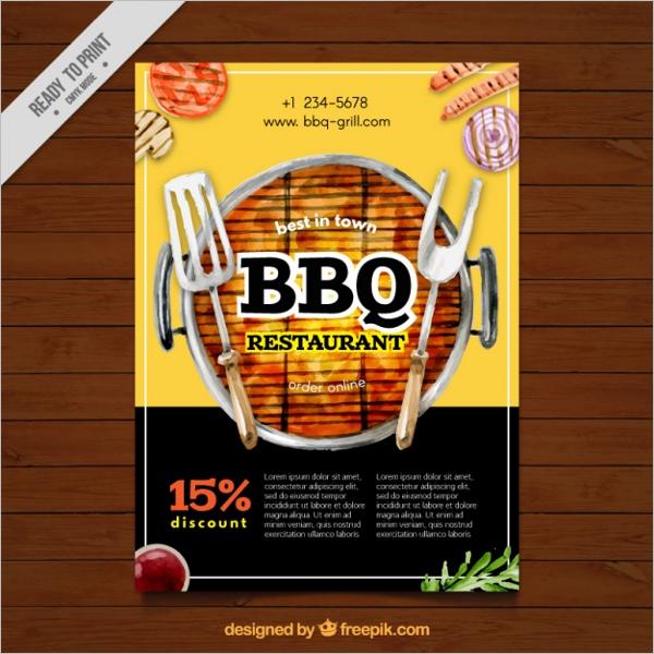 Realistic BBQ Food Menu Design