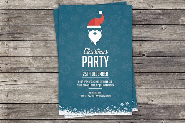 Realistic Christmas Invitation Template
