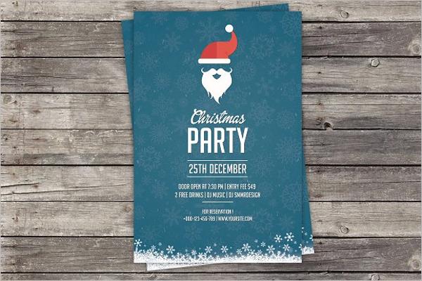 Realistic Christmas Invitation Template