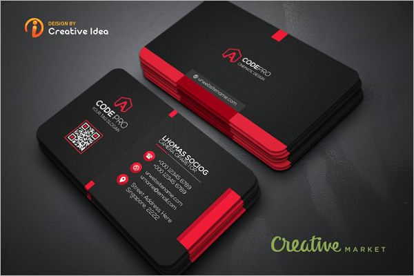 Realistic Office Business Card Template
