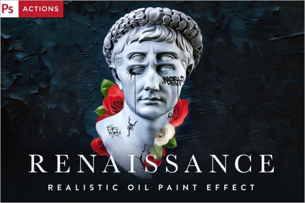Realistic Oil Painting Template