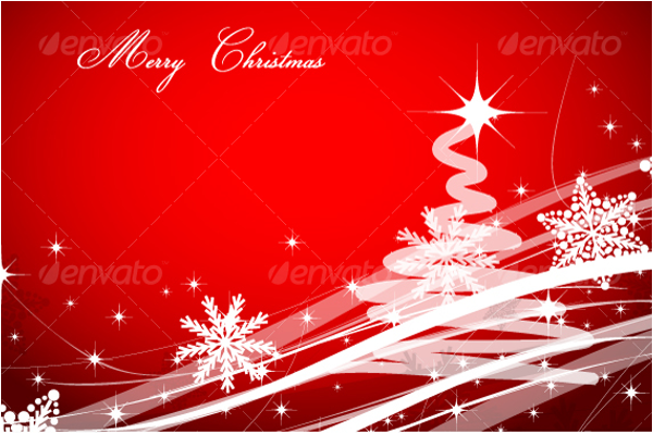 Red Background Christmas Design