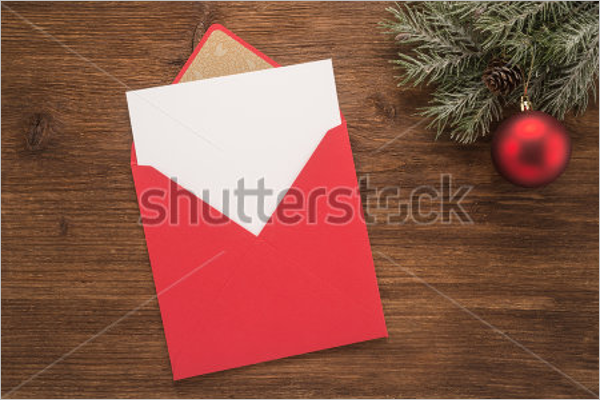 Red Envelope On Christmas Design