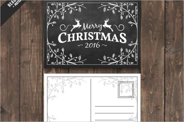Religious Christmas Postcard Template